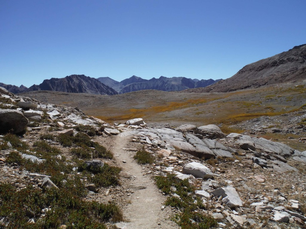 We had great weather most days on our JMT hike..look at the blue sky!