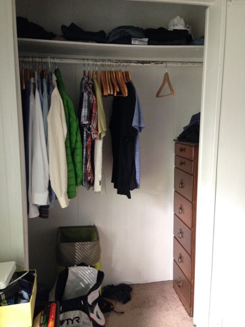 This is my closet. My clothes have never been so organized. Look at all that empty space!
